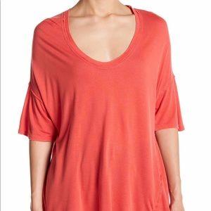 PROJECT SOCIAL T Women Orange Zoe High-Low T-Shirt